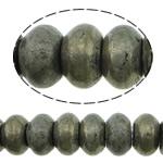 Beads bizhuteri gur i çmuar, Pirit Artë, Rondelle, asnjë, asnjë, 10x6mm, : 1.2mm, :16Inç, 5Fillesat/Shumë,  Shumë