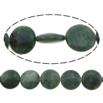 Beads Jade, Kanada Jade, Round Flat, asnjë, asnjë, 16x16x5.50mm, : 1.5mm, :16Inç, 5Fillesat/Shumë,  Shumë