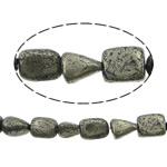 Beads bizhuteri gur i çmuar, Pirit Artë, Shape përziera, asnjë, asnjë, 4-6mm, : 1mm, :16Inç, 10Fillesat/Shumë,  Shumë