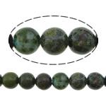 Beads bizhuteri gur i çmuar, Stone Gjelbër Rainforest, Round, natyror, asnjë, 6mm, : 1.2mm, :16Inç, 5Fillesat/Shumë,  Shumë