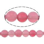 Beads Mermer Natyrore, Round, i lyer, 4mm, : 0.8mm, :16Inç, 10Fillesat/Shumë,  Shumë