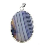 Agat pendants bizhuteri, Purple agat, Oval Flat, ngjyrë platin praruar, asnjë, 27x38x8mm, : 4x5mm, 20PC/Shumë,  Shumë
