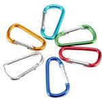 Aluminum Carabiner mbajtëse çelësash, Letër, pikturë, ngjyra të forta, ngjyra të përziera, 65x35mm, 100PC/Shumë,  Shumë