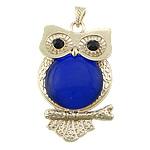 Pendants gur i çmuar bizhuteri, Cats Eye, with Tunxh, Buf, ngjyrë ari praruar, me diamant i rremë, 40x63x7mm, : 4x7mm, 10PC/Shumë,  Shumë