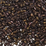2 Glass Beads Pritini Seed, Seed Glass Beads, Tub, i praruar, asnjë, bojë kafe, 2x2mm, : 1mm, 30000PC/Qese,  Qese