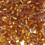 2 Glass Beads Pritini Seed, Seed Glass Beads, Tub, argjend-rreshtuan, asnjë, ngjyrë kafe, 3x3.5mm, : 1mm, 7500PC/Qese,  Qese