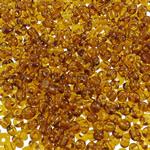 Transparent Glass Beads Seed, Seed Glass Beads, Round, asnjë, i tejdukshëm, toka verdhë, 2x1.9mm, : 1mm, 30000PC/Qese,  Qese
