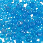 Rainbow Seed Glass Beads, Round, ylber, i tejdukshëm, deti blu, 3x3.6mm, : 1.5mm, 5000PC/Qese,  Qese