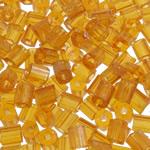 2 Glass Beads Pritini Seed, Seed Glass Beads, Tub, asnjë, i tejdukshëm, i verdhë, 3.5x4mm, : 1mm, 5000PC/Qese,  Qese