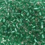 2 Glass Beads Pritini Seed, Seed Glass Beads, Tub, argjend-rreshtuan, asnjë, e gjelbër, 2x2mm, : 1mm, 30000PC/Qese,  Qese
