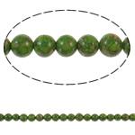 Bruz Beads, Bruz Mozaiku, Round, sintetik, asnjë, e gjelbër, 6mm, : 1mm, : 15.7Inç, 10Fillesat/Qese,  Qese