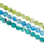 Petë Silver Beads Lampwork, Round, punuar me dorë, petë argjendi, ngjyra të përziera, 8mm, : 1-1.5mm, : 15.7Inç, 20Fillesat/Qese,  Qese