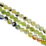 Petë Silver Beads Lampwork, Round, punuar me dorë, petë argjendi, ngjyra të përziera, 6mm, : 1-1.5mm, : 15.7Inç, 20Fillesat/Qese,  Qese
