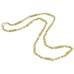Gjerdan bizhuteri, Tunxh, Shape Tjera, ari praruar vërtetë, asnjë, asnjë, , nikel çojë \x26amp; kadmium falas, 4x21mm, : 18.5Inç,  18.5Inç,