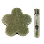 Beads Alloy zink Lule, Ngjyra antike bronz i praruar, asnjë, asnjë, , nikel çojë \x26amp; kadmium falas, 14x13.50x3mm, : 1.5mm, 580PC/KG,  KG