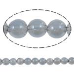 Beads kuarc bizhuteri, Kuarc Natyrore, Round, colorful kromuar, asnjë, 6mm, : 1mm, : 15Inç, 5Fillesat/Shumë,  Shumë