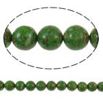 Bruz Beads, Bruz Mozaiku, Round, sintetik, asnjë, e gjelbër, 12mm, : 1mm, : 15.7Inç, 10Fillesat/Qese,  Qese