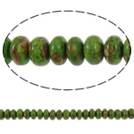 Bruz Beads, Bruz Mozaiku, Rondelle, sintetik, asnjë, e gjelbër, 10x5mm, : 1mm, :15.7Inç, 10Fillesat/Qese,  Qese