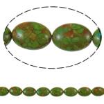 Bruz Beads, Bruz Mozaiku, Oval Flat, sintetik, asnjë, e gjelbër, 15x20x10mm, : 1.5mm, :15.7Inç, 10Fillesat/Qese,  Qese