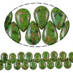 Bruz Beads, Bruz Mozaiku, Lot, sintetik, asnjë, e gjelbër, 17x26x9mm, : 1mm, :15.7Inç, 10Fillesat/Qese,  Qese