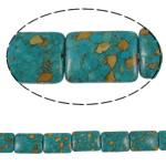 Bruz Beads, Bruz Mozaiku, Drejtkëndësh, sintetik, asnjë, blu, 18x25x8mm, : 1mm, :15.7Inç, 10Fillesat/Qese,  Qese