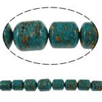 Bruz Beads, Bruz Mozaiku, Kolonë, sintetik, asnjë, blu, 10x12mm-16x19mm, : 1mm, :15.7Inç, 10Fillesat/Qese,  Qese