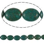 Bruz Beads, Bruz Gold venë, Oval, sintetik, asnjë, blu, 20x25x10mm, : 1mm, : 15.7Inç, 10Fillesat/Qese,  Qese