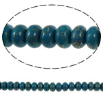 Bruz Beads, Bruz Gold venë, Rondelle, sintetik, asnjë, blu, 10x6mm, : 1mm, :15.7Inç, 10Fillesat/Qese,  Qese