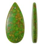 Varëse Bruz, Bruz Mozaiku, Lot, sintetik, asnjë, e gjelbër, 25x55x8mm, : 2mm, 50PC/Qese,  Qese