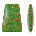 Varëse Bruz, Bruz Mozaiku, Trapez, sintetik, asnjë, e gjelbër, 29x40x11mm, : 2mm, 50PC/Qese,  Qese