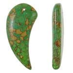 Varëse Bruz, Bruz Mozaiku, Shape Tjera, sintetik, asnjë, e gjelbër, 25x53x8mm, : 1.5mm, 50PC/Qese,  Qese