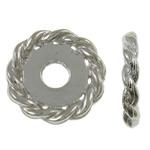 Beads Alloy zink Lule, ngjyrë platin praruar, asnjë, asnjë, , nikel çojë \x26amp; kadmium falas, 11x2mm, : 3mm, 1425PC/KG,  KG