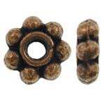 Beads Zink Alloy Spacer, Alloy zink, Lule, ngjyrë bakri të praruar antike, asnjë, asnjë, , nikel çojë \x26amp; kadmium falas, 6x2mm, : 1.5mm, 5000PC/KG,  KG