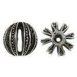 Beads aliazh zink Hollow, Alloy zink, Round, Ngjyra antike argjendi praruar, i uritur, asnjë, , nikel çojë \x26amp; kadmium falas, 18mm, : 3.5mm, 50PC/Qese,  Qese
