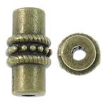 Beads Zink Alloy Tube, Alloy zink, Ngjyra antike bronz i praruar, asnjë, asnjë, , nikel çojë \x26amp; kadmium falas, 6.5x12.5mm, : 2mm, 660PC/KG,  KG