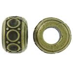 Beads Zink Alloy Vendosja, Alloy zink, Rondelle, Ngjyra antike bronz i praruar, asnjë, asnjë, , nikel çojë \x26amp; kadmium falas, 11.5x8mm, : 5.5mm, 200PC/Qese,  Qese