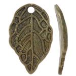 Pendants Zink Alloy Leaf, Alloy zink, Gjethe, Ngjyra antike bronz i praruar, asnjë, asnjë, , nikel çojë \x26amp; kadmium falas, 10x16x1.50mm, : 1.5mm, 1660PC/KG,  KG
