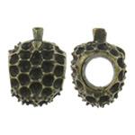 Beads Zink Alloy Vendosja, Alloy zink, Shape Tjera, Ngjyra antike bronz i praruar, asnjë, asnjë, , nikel çojë \x26amp; kadmium falas, 11x15x10.50mm, : 5.5mm, 200PC/Qese,  Qese