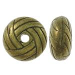 Beads aliazh zink Flat, Alloy zink, Rondelle, Ngjyra antike bronz i praruar, asnjë, asnjë, , nikel çojë \x26amp; kadmium falas, 10x5mm, : 1.5mm, 550PC/KG,  KG