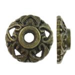 Alloy zink Bead Cap, Shape Tjera, Ngjyra antike bronz i praruar, asnjë, asnjë, , nikel çojë \x26amp; kadmium falas, 9.5x3mm, : 2.5mm, 2500PC/KG,  KG
