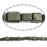 Beads bizhuteri gur i çmuar, Chalcopyrite, Drejtkëndësh, natyror, asnjë, 20mm, : 1.5mm, : 15.7Inç, 10Fillesat/Shumë,  Shumë