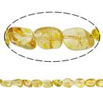 Beads kuarc bizhuteri, Lemon kuarc, Nuggets, natyror, asnjë, 16x14x10mm, : 1.5mm, : 15.7Inç, 20Fillesat/Shumë,  Shumë