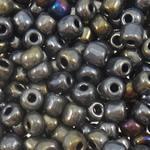Glass Beads praruar Seed, Seed Glass Beads, Round, i praruar, asnjë, asnjë, 3x3.6mm, : 1.5mm, 5000PC/Qese,  Qese