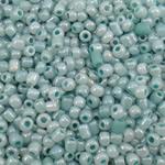 Ceylon Glas-Rocailles, rund, hellblau, 2x1.9mm, Bohrung:ca. 1mm, ca. 30000PCs/Tasche, verkauft von Tasche