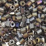 Glass Beads praruar Seed, Seed Glass Beads, Tub, i praruar, asnjë, asnjë, 4x3.5mm, : 1mm, 5000PC/Qese,  Qese