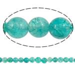 Kërcitje Beads kuarc, Jeshile kuarc, Round, asnjë, 12mm, : 1mm, : 15.7Inç, 20Fillesat/Shumë,  Shumë