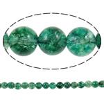 Kërcitje Beads kuarc, Jeshile kuarc, Round, natyror, 12mm, : 1mm, : 15.7Inç, 20Fillesat/Shumë,  Shumë