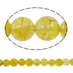 Kërcitje Beads kuarc, Lemon kuarc, Round, natyror, 12mm, : 1.5mm, : 15.7Inç, 20Fillesat/Shumë,  Shumë