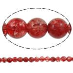 Kërcitje Beads kuarc, Ruby kuarc, Round, natyror, 14mm, : 1.5mm, : 15.7Inç, 20Fillesat/Shumë,  Shumë