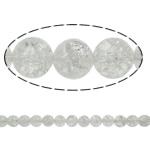 Knistern Quarz Perlen, Klarer Quarz, rund, natürlich, verschiedene Größen vorhanden, Bohrung:ca. 1.5mm, Länge:ca. 15.7 ZollInch, 20SträngeStrang/Menge, verkauft von Menge